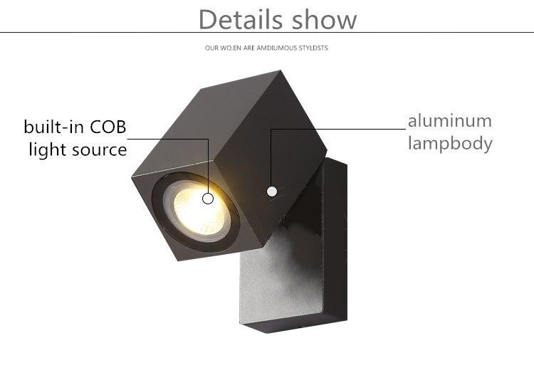 Acquista lampada da parete esterni moderno semplice altalena a