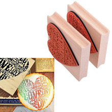 New Heart Shape Blocks Toys Wooden Rubber Craved Printing Stamp Wood DIY Fashion Craft School Scrapbooking Drawing Tools 1 pcs