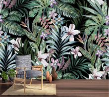 Beibehang Custom Wallpaper Hand painted European Pastoral Wallpaper Tropical Rainforest Southeast Asia Mural TV Wall Background(China)