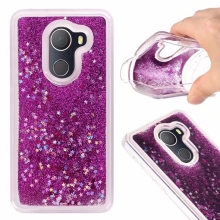 For Alcatel A30 Fierce 2017 / TMOBILE REVVL/Walters/A30 Plus Love Heart Stars Glitter Stars Dynamic Liquid Quicksand Case Cover(China)