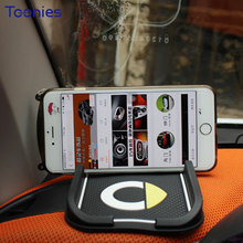 Holder for Your Mobile Phone Smart Logo Fortwo Forfour Anti Stress Slip Pad Car Bracket Silicon Navigation Pad Number Car mats