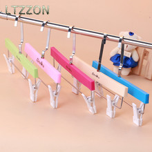 1PC Colorful Cute Plastic Children Clothes Hanger Kids Trousers Drying Rack Non-Slip 26*18.5cm(China)
