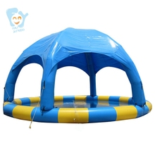Dia 8m Inflatable Swimming Pool With Dome Large Water Fun Game Sports Park