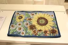 Hot table runner mats Embroidery tablecloth Decorative Decor home exquisite fresco coffee Harvest printing helianthus Vintage XM