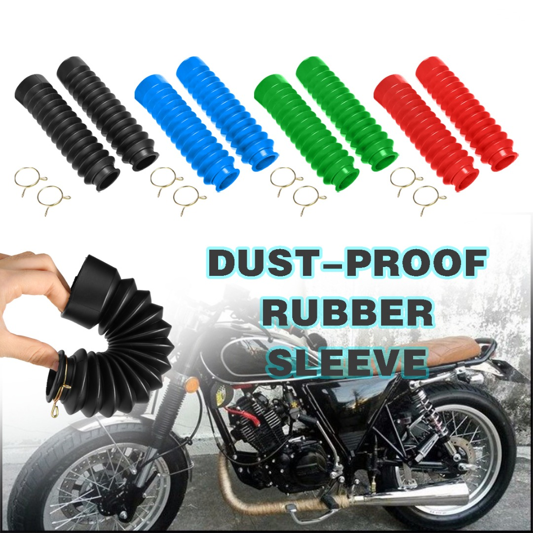 Mayitr 2pcs Rubber Motorcycle Motobike Fork Cover Front Protector Anti Dust Gaiters Boots Moto Accessories