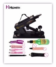 HISMITH New Sex Machine Female Masturbation Pumping Gun with 6 Dildos Attachments Automatic Sex Machines for Women Sex Products 9