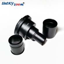 Lucky Zoom Brand Professional Microscope Camera Adapter SLR/DSLR 2X For Trinocular Microscopio And Canon Free Shipping(China)
