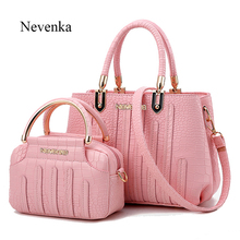 Nevenka Fashion Women Bag Composite Brand Tote Ladies Evening Handbag Shoulder Bags Solid Pu Leather Messenger Sac - yyss Store store