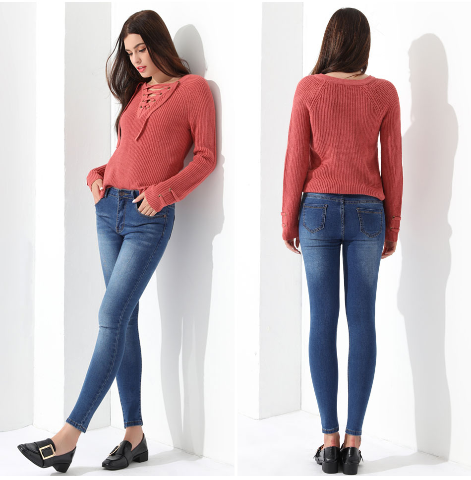 Women's Pullover Long Sleeve KnittedSweater 29