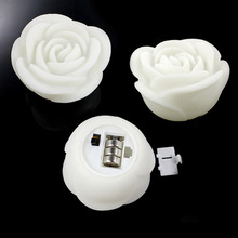 1pc Romantic Rose Flower LED Candle Light Color Changed Lamp LED Night Lights For Wedding Party Decoration