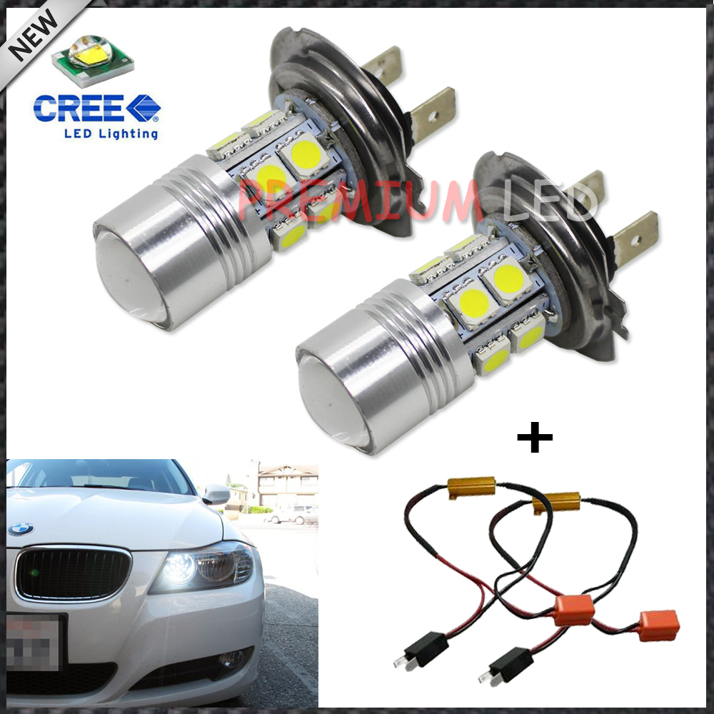 2pcs Error Free Canbus HID White 10-SMD CREE High Power H7 LED Bulbs+ Error Free LED Decoders For Daytime Running Fog Lights<br><br>Aliexpress