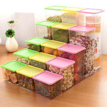 Plastic Food Storage Box Grain Container Kitchen Organize Tools