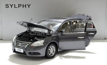 Gray 1/18 Nissan Sylphy Sentra 2012 Scale Models Kids Toys Alloy Model Car Aluminum Die casting Products