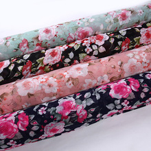 Floral Printing Dress Cloth 75D Polyester Chiffon Plain Fabric Curtain Dress Making