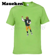 Men Brett Favre #4 Hall of Fame Green bay T-shirt Clothes T Shirt Men's for fans gift o-neck tee W17061901(China)