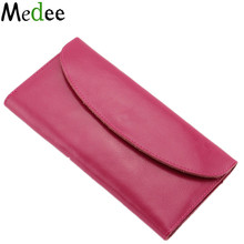 2016 NEW Women's purse made of genuine leather Fashion long wallet COVER SHEET FOR Paper money Women's purses and wallets UB021