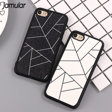 Buy JAMULAR Simple Black White Grid Phone Case iPhone 7 8 6 Plus 5s SE Silicone Case Back Cover iPhone 6 6s 8 Plus Fundas for $1.77 in AliExpress store
