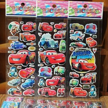 Toy Cars Cartoon Stickers for Boys and Girls Decorative Cool Famorous Cars Beautiful Foam Gift Develop Intelligence