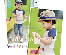 Promotions!!Wholesale Kid's Sun hats/ children hat/kid cap/ Fashion hat/boy and girl cap/jazz cap top hat(China)