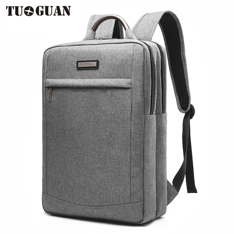 TUGUAN Fashion Men Waterproof 15.6 Inch Laptop Business Backpack College Student Back Pack Schoolbag Traveling Bags for Male Boy<br>