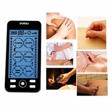 DOMAS 2 channel TENS Unit Electronic Pulse Massager 24 mode ElectroTherapy device pulse massager