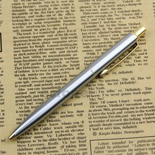 New High Quality BAOER 37 stainless steel Push silver gold clip Ball Point Pen