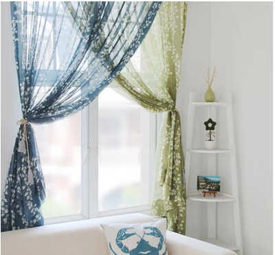 Fashion tulle for windows translucidus sheer curtains for bedroom living room