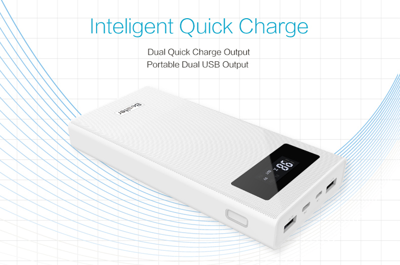 Besiter Power Bank 000 mAh For Xiaomi Mi 2 Quick Charge 3.0 PowerBank Portable Charger External Battery For iPhone Pover Bank 14