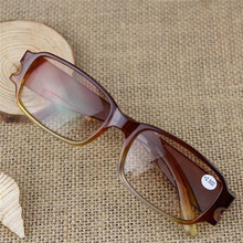 Anti UV radiation bifocal spectacles reading glasses plain Presbyopia brown 1.0 to 4.0 diopter 046(China)