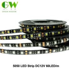 LED Strip 5050 Black PCB DC12V Flexible LED Light 60 LED/m 5m/lot RGB LED Strip.(China)