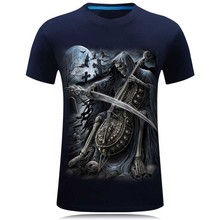 2017 Summer New 3D T Shirt Men's Short-sleeve Fashion O-Neck animal T-shirt Printed Casual Navy blue Male Shirts Plus size 6XL(China)