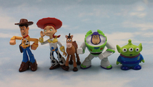 J.G Chen 5Pcs/Set Toy Story Buzz Lightyear &Toy Story Woody & Green Man Action Figures NEW