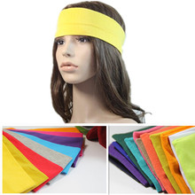 2 Pcs/lot Hotsale Quality Candy color Cotton Cloth Fabric Hair bands headband Sweat Absorbing Women Hair Accessory