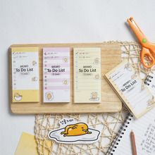 55pages/pack Lazy Egg To Do List Memo Pad Sticky Notes Memo Notebook Stationery Papelaria Escolar School Supplies