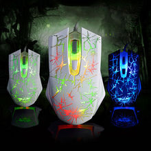 Wired Ajazz The Dark Knight 2400DPI Molten LED Light Ergonomic Usb Optical Gaming Mouse Gamer 6 Buttons For PC Laptop Computer(China)
