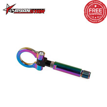 RYANSTAR Neo Chrome Folding Ring Screw On Front/Rear Bumper Tow Hook For TOYOTA(China)