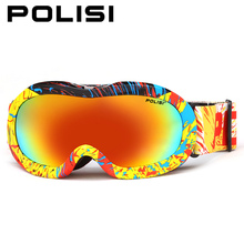 POLISI Children Kids Winter Ski Goggles Outdoor Sport Snowmobile Snowboard Skate Snow Glasses Polarized Anti-Fog Skiing Eyewear(China)