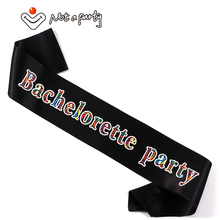 30pcs Bachelorette party sash wedding event team bride to be bridal shower hen night bridesmaid gift fun event party supplies(China)