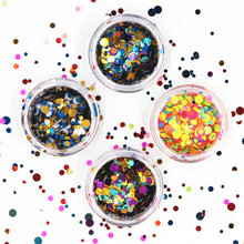 12 Color/pack Wave Point Nail Holographic Nail Metal Glitter Powder Dust 3D Tip Rhinestone Manicure Tools Nail Art Decoration(China)