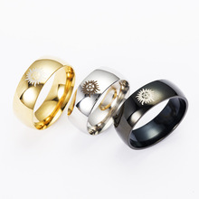 Free Shipping USA UK Canada Russia Brazil Hot Sales 8mm Silver/Black/Golden Dome Supernatural New Men's Tungsten Wedding Rings