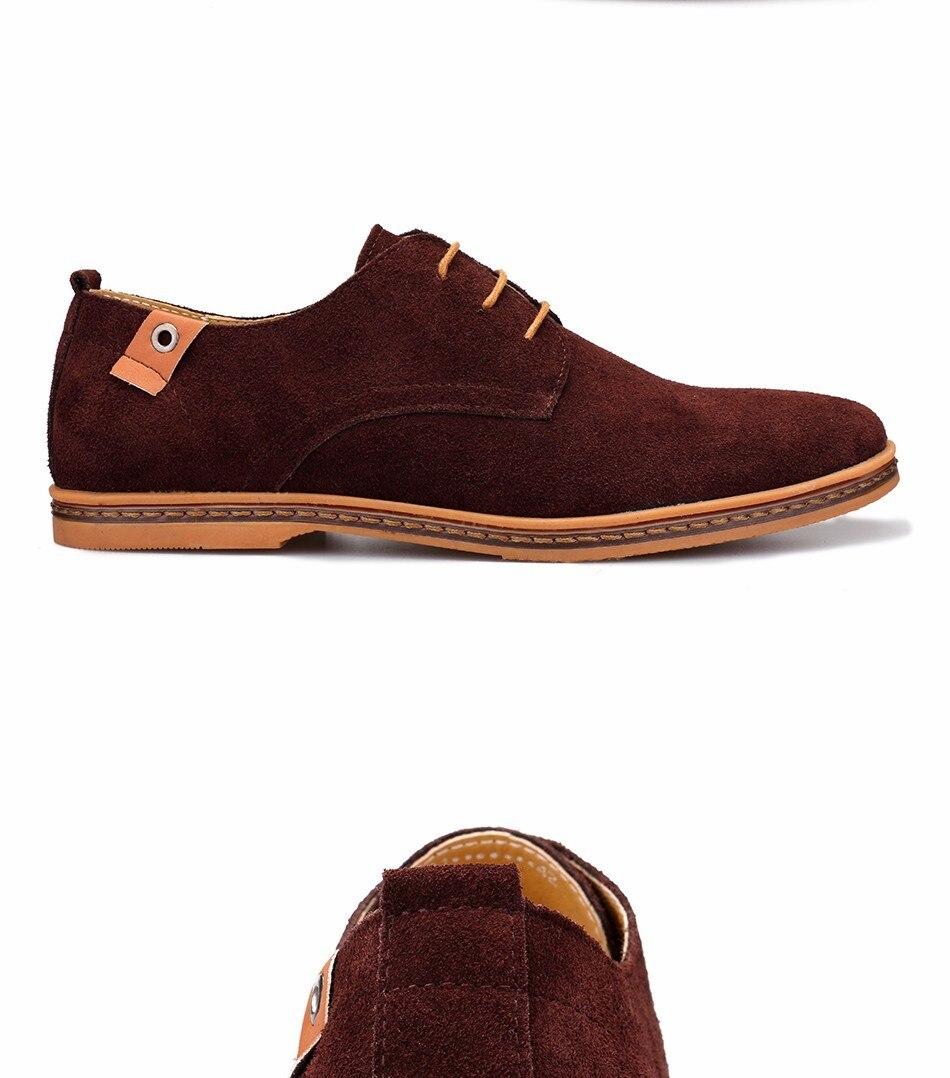 Classic Men Flats Gentleman Oxford Genuine Leather Dress Shoes Men Flat Shoes Luxury Casual Shoes Size 39-47 7