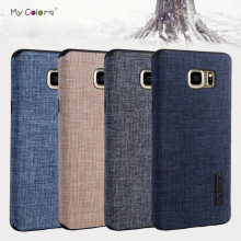 High quality Non-slip phone case for Samsung Galaxy Note 5 luxury Cloth+TPU material back soft case cover for Samsung Note5