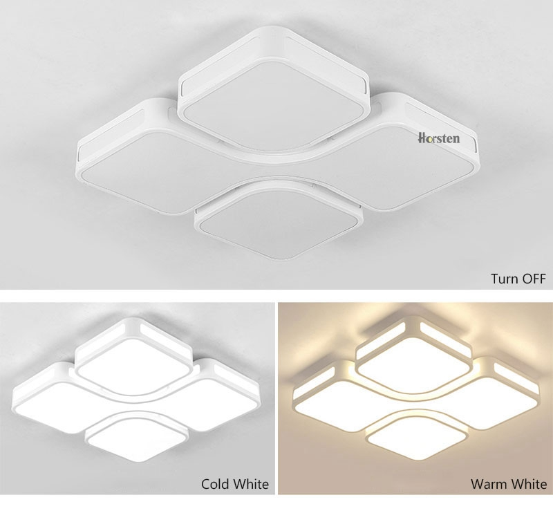 Modern Simple Acrylic LED Ceiling Lights Minimalist Rectangular Ceiling Lamp With Romote Control For Living Room Bedroom 220V (11)