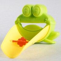 1 pcs bebe Bath Toys Cute Cartoon Faucet Extender For Kid Children Kid Hand Washing banheiro In Bathroom Sink Green Frog