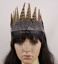 Free Shipping !!! FHB0127 10pcs/lot, Indiana Style Fashion Feather Hairband, Hair Accessories Performance Items(China)