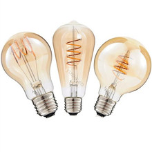 Edison LED Vintage Lamp Bulb soft LED Filament 4W 110V 220V E27 Base Commercial Bulb Night Lamp LED Flex Filament Bulbs 4pcs/lot