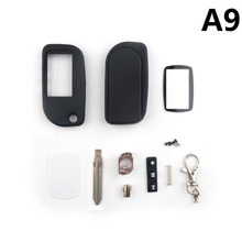 New Arrival free shipping New A9 Case Keychain for Starline LCD Remote controller A9 Only Body keychain and glass A9