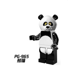 Educational Blocks Figures PG965 Panda Custom Made Chinese Animal cartoon Super Heroes Model Action Bricks Kids Toys Hobbies(China)