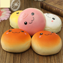 Jumbo 10cm Smile Marshmallow Bun Squishy Phone Charm Squishy Pendants Baby Toys Phone Straps for Cell Phone Decoration