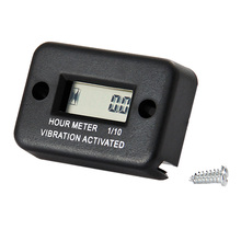 New vibration Digital Hour Meter For Motorcycle ATV Snowmobile Boat tractor chainsaw far machine Gas Engine Waterproof